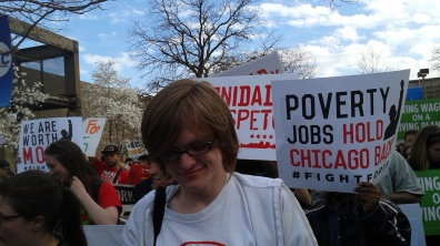 Fight For 15 Rally at UIC, 4/15/2015
