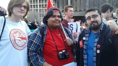 CSP Members at the Fight For 15 Rally at UIC, 4/15/2015