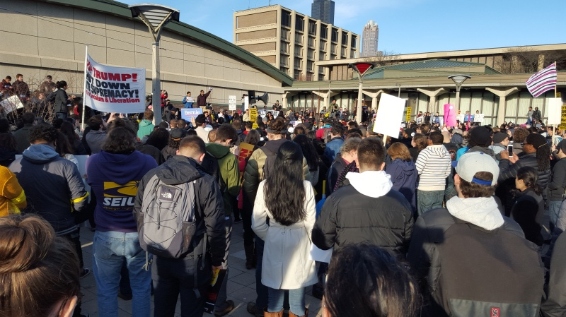 Rally at the UIC Quad before march